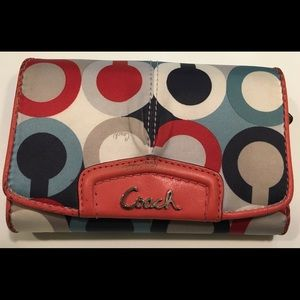 COACH Multicolor Modern Trifold Wallet/Clutch